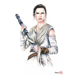 """Rey"" Star Wars Limited Edition 8"" x 12"" Signed Comic Art Print by Thang Nguyen #5/25 (PA COA)"
