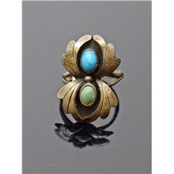 Sterling Silver Turquoise Navajo Ring
