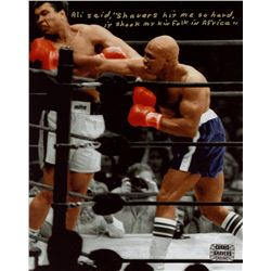 Earnie Shavers Inscribed 8x10 Photo vs. Muhammad Ali (Shavers Hologram)