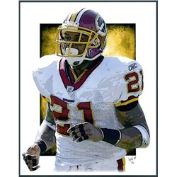 Sean Taylor Redskins Limited Edition 11x14 Signed Art Print by Jeff Lang (Artist Proof #3/3)