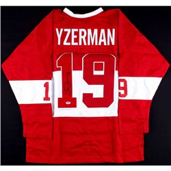 Steve Yzerman Signed Red Wings Throwback Jersey (PSA COA)