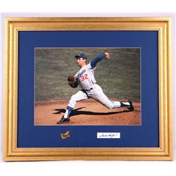 Sandy Koufax Signed Dodgers 18x21 Custom Framed Display (JSA ALOA)