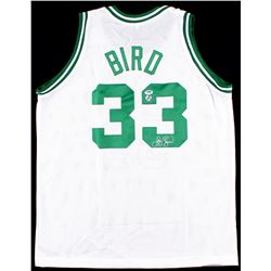 Larry Bird Signed Celtics Jersey (Bird Hologram & PSA COA)