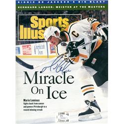 "Mario Lemieux Signed 1993 Sports Illustrated ""Miracle On Ice"" Magazine (JSA Hologram)"