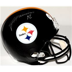 James Harrison Signed Steelers Full-Size Helmet (TSE COA)