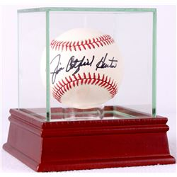 "Jim ""Catfish"" Hunter Signed OAL Baseball in High Quality Display Case (PSA COA)"