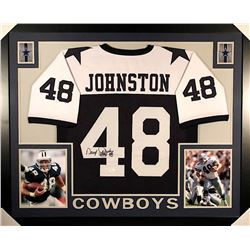 "Daryl ""Moose"" Johnston Signed Cowboys 35x43 Custom Framed Jersey (JSA COA)"