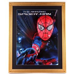 "Stan Lee Signed ""Spider-Man"" 25x31x5 Custom Framed Mask Display (PSA COA)"