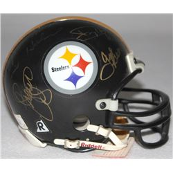 """The Steel Curtain"" Multi-Signed Steelers Mini Helmet With (5) Signatures Including Dwight White, Er"