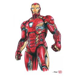 "Iron Man Limited Edition 8"" x 12"" Signed Comic Art Print by Thang Nguyen #8/25 (PA COA)"