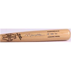 "Maury Wills Signed Adirondack Personal Model Baseball Bat Inscribed ""104 SB '62"" (PA COA)"