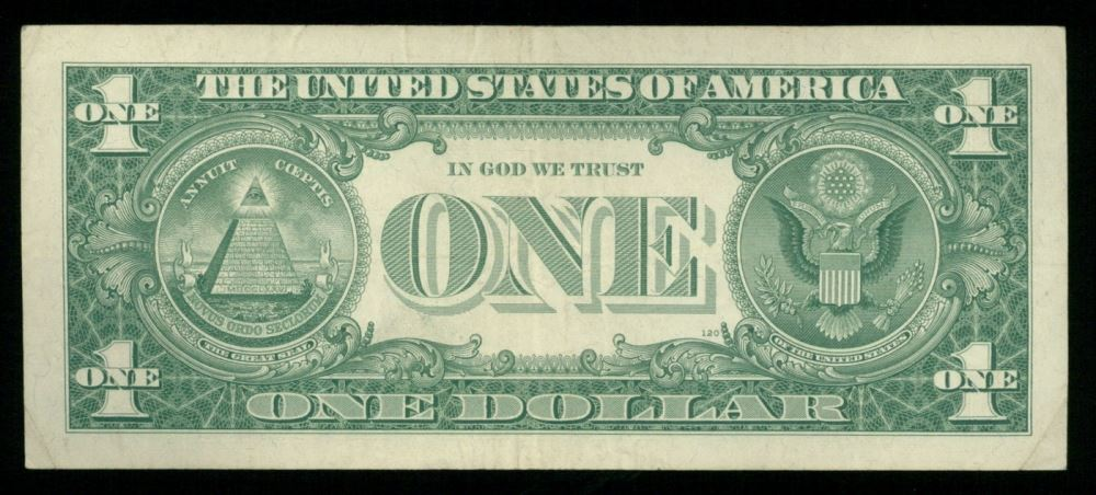 1957 Us 1 One Dollar Blue Seal Silver Certificate Note