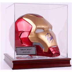 "Stan Lee Signed Full Size 3-D Marvel ""Iron Man"" Mask in High Quality Display Case (PSA COA)"