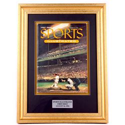 Vintage First Issue Sports Illustrated 15x20 Custom Framed Magazine Display