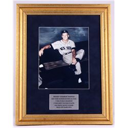 Mickey Mantle Signed Yankees 15x19 Custom Framed Photo Display (JSA ALOA)