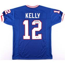 Jim Kelly Signed Bills Jersey (PSA COA & Mounted Memories Hologram)