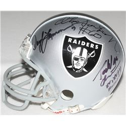 Multi-Signed Raiders Mini-Helmet with Jim Otto, Todd Christensen, Otis Sistrunk, Daryle Lamonica & B