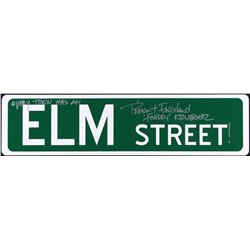"Robert Englund Signed ""Elm Street"" Full-Size 6"" x 24"" Metal Street Sign Inscribed ""Every Town Has An"