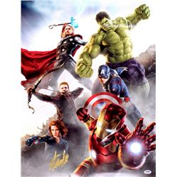 "Stan Lee Signed ""The Avengers"" 19x25 Poster (PSA COA)"