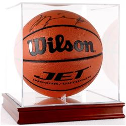 Michael Jordan Signed Basketball with High Quality Display Case (UDA COA)