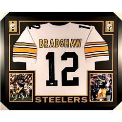 Terry Bradshaw Signed Steelers 35x43 Custom Framed Jersey (JSA COA & Bradshaw Hologram)