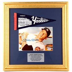 Mickey Mantle Signed Yankees 18x19 Custom Framed Photo Display (PSA LOA)