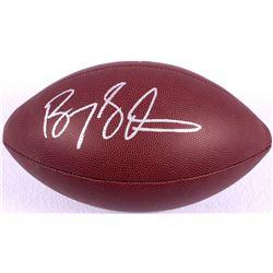 Barry Sanders Signed Football (JSA COA & Schwartz Hologram)