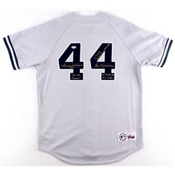 Reggie Jackson Signed Yankees Jersey with (4) Career Stat Inscriptions (PSA COA)