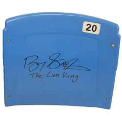 "Barry Sanders Signed Silverdome Stadium Blue #20 Seatback Inscribed ""The Lion King"" (Schwartz COA)"