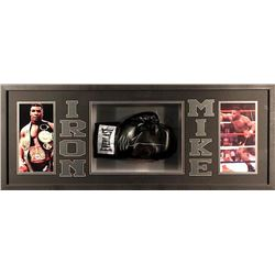 Mike Tyson Signed 39x15x4 Custom Framed Shadowbox Boxing Glove Display (JSA)