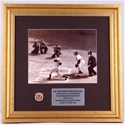 Joe DiMaggio Signed Yankees 17x17 Custom Framed Photo Display (JSA ALOA)
