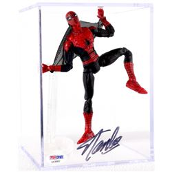 "Stan Lee Signed ""Spider-Man"" Marvel 7"" Action Figure with Display Case (PSA COA)"