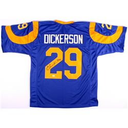 "Eric Dickerson Signed Rams Throwback Jersey Inscribed ""HOF 99"" (JSA COA)"
