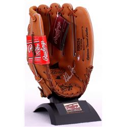 Nolan Ryan Signed Rawlings 7th No Hitter Commemorative Model Glove With Stand (Ryan Hologram)