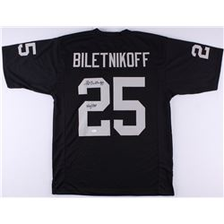 "Fred Biletnikoff Signed Raiders Jersey Inscribed ""HOF 88"" (JSA COA)"