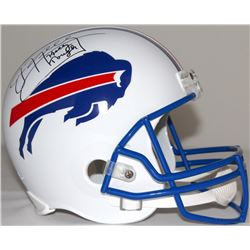 "Jim Kelly Signed Bills Full-Size Helmet Inscribed ""Kelly Tough"" (JSA COA)"