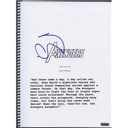 "Robert Downey Jr. Signed ""The Avengers"" Full Script (PTS COA)"
