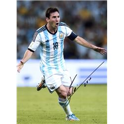 "Lionel ""Leo"" Messi Signed Team Argentina World Cup Goal 12x16 Photo (Messi COA)"