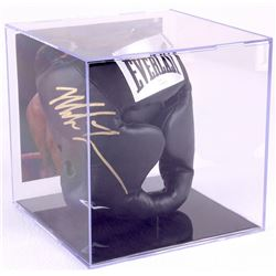Mike Tyson Signed Everlast Head Gear with Display Case (JSA COA)