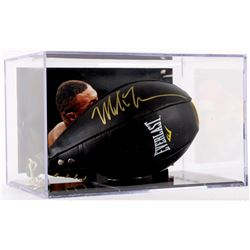 Mike Tyson Signed Leather Everlast Speed Bag with Display Case (JSA COA)