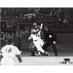 Hank Aaron Signed Braves 715th Home Run 8x10 Photo (Steiner COA)