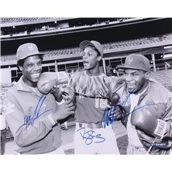 "Mike Tyson, Doc Gooden & Darryl Strawberry Triple Signed New York Mets ""At Shea Stadium"" 16x20 Photo"
