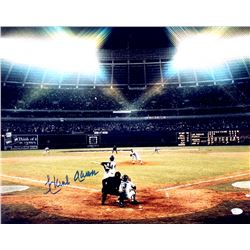 "Hank Aaron Signed Braves ""715th Home Run"" 16x20 Photo (JSA COA)"