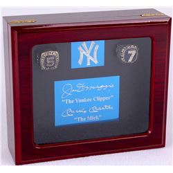 Mickey Mantle & Joe DiMaggio New York Yankees Replica Rings with Custom High Quality Piano Lacquer W