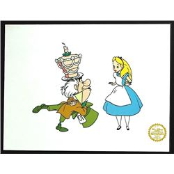 Alice In Wonderland Walt Disney Limited Edition Animation Serigraph Cel