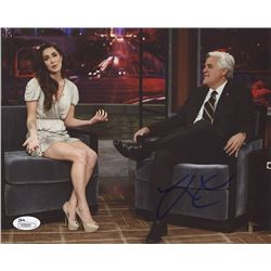 Jay Leno Signed 8x10 Photo with Megan Fox (JSA COA)