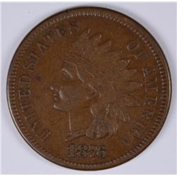 1876 INDIAN HEAD CENT, VF/XF