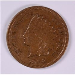 1908-S INDIAN HEAD CENT AU