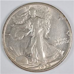 1935-S WALKING LIBERTY HALF AU++