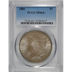 1881 MORGAN DOLLAR PCGS MS64+